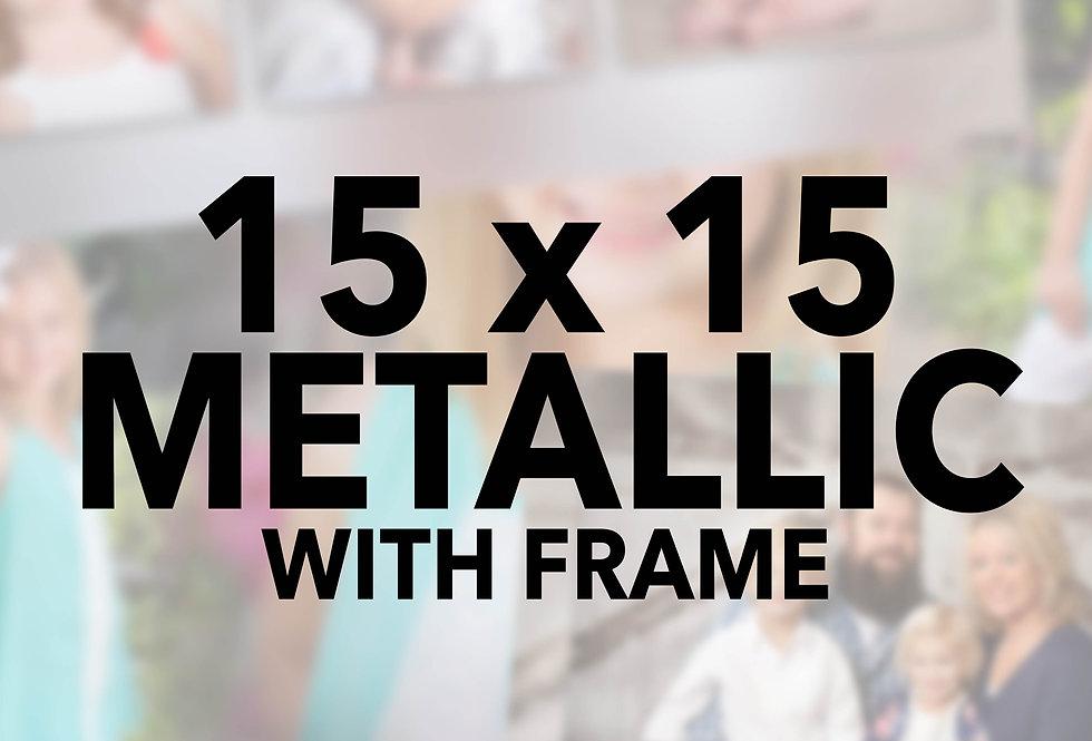 Mounted/Sprayed 15x15 w/frame (Metallic)