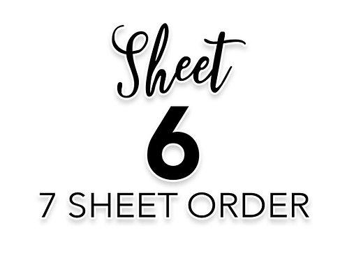 SHEET 6 OF 7