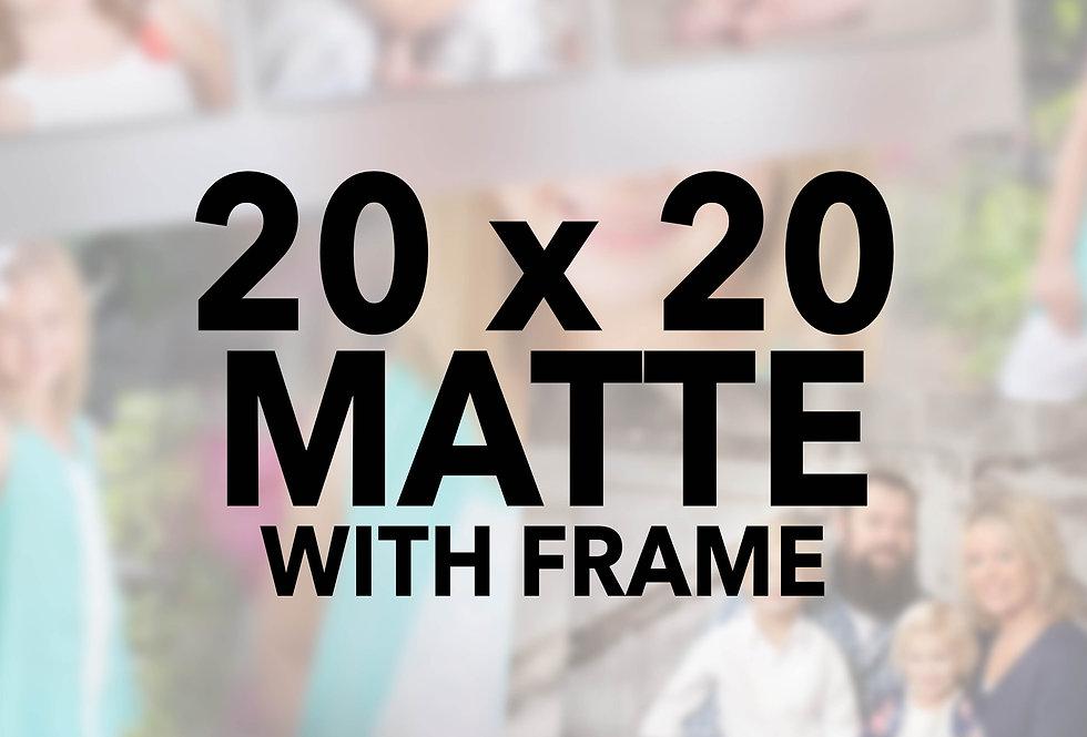 Mounted/Sprayed 20x20 w/frame (Matte)
