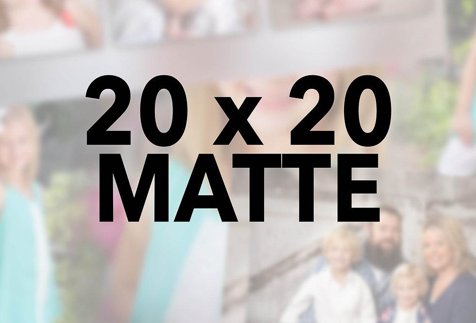 Mounted/Sprayed 20x20 (Matte)