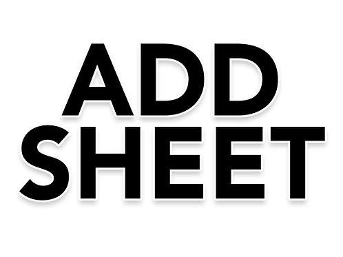 ADD SHEET