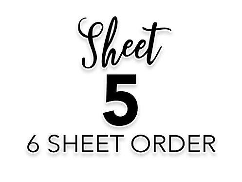 SHEET 5 OF 6