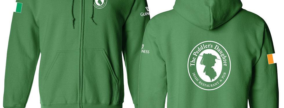 Green Unisex  Zipper Hoodies