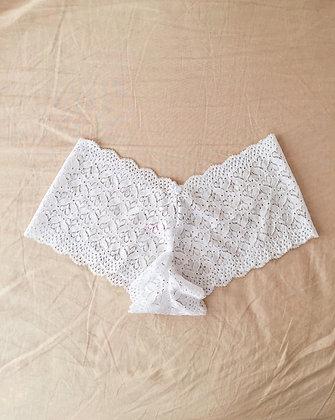 White Heart Shorts
