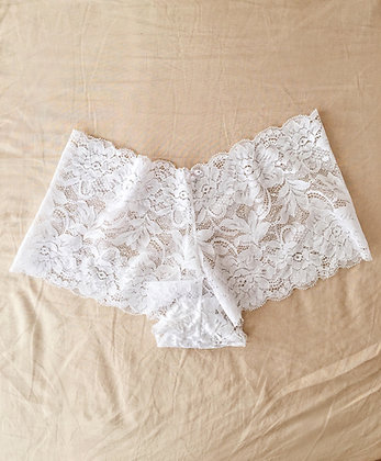 White Flower Shorts