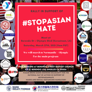 #StopAsianHate FACE to Join in Support of K-town Rally