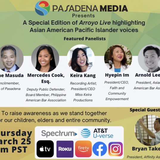 FACE President Hyepin Im to Speak on Pasadena Media's Arroyo Live Highlighting Asian American Pacific Islander Voices