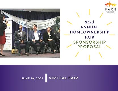 2021 (23rd) FACE Homeownership Fair Spon