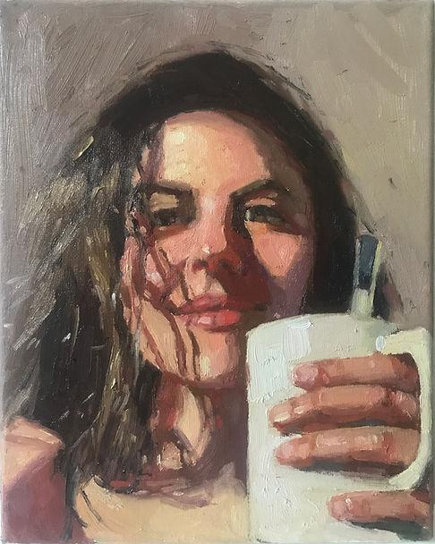 Sandra_Oil painting on canvas _ 10x8 inc