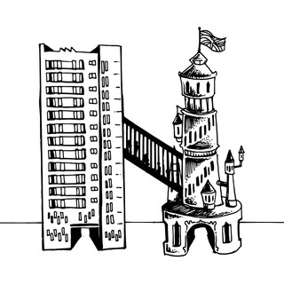 The Ivory Tower vs. the Brutalist Tower