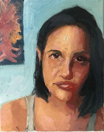 Loreline_Oil painting on canvas _ 10x8 i