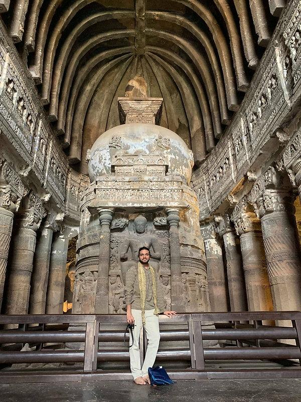 2. At the Ajanta Cave 26 in India.jpg
