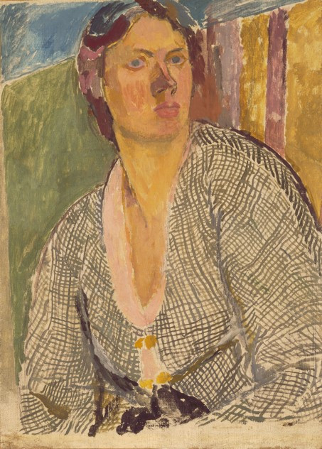 Vanessa Bell, Self–Portrait, c. 1915, Oil on canvas laid on panel, 63.8 x 45.9 cm, Yale Center for British Art, Paul Mellon Fund. 5050 - B1982.16.2© The Estate of Vanessa Bell, courtesy of Henrietta Garnett.