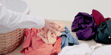 Сортировка одежды перед стиркой