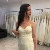 Illusion neckline taken off to create strapless gown