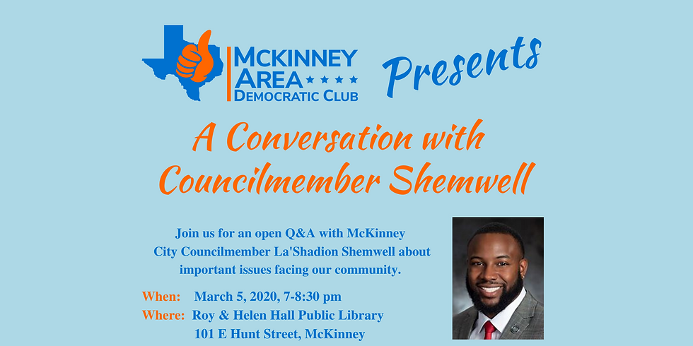 A Conversation with Councilmember Shemwell