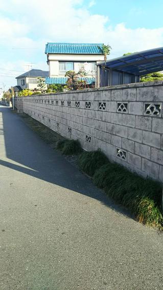 埼玉県松伏町 S邸 外構ブロック塀塗装