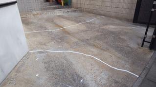 埼玉県 越谷市 東越谷 S様邸 駐車場床防塵塗装