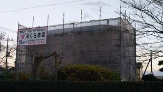 埼玉県松伏町下赤岩 外壁塗装 屋根塗装工事施工中