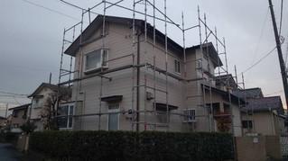 埼玉県 松伏町 ゆめみ野 T様邸 足場設置