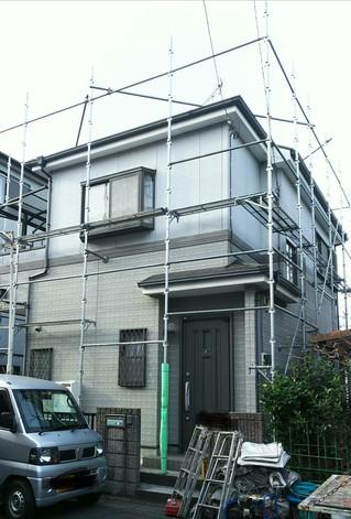 埼玉県春日部市緑町 Y様邸 外壁塗装現場