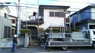 埼玉県春日部 藤塚 U様邸 外壁塗装工場