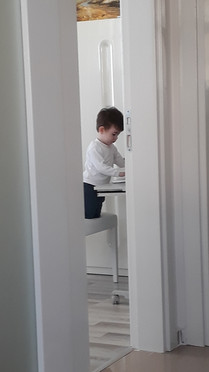 He was working on computer