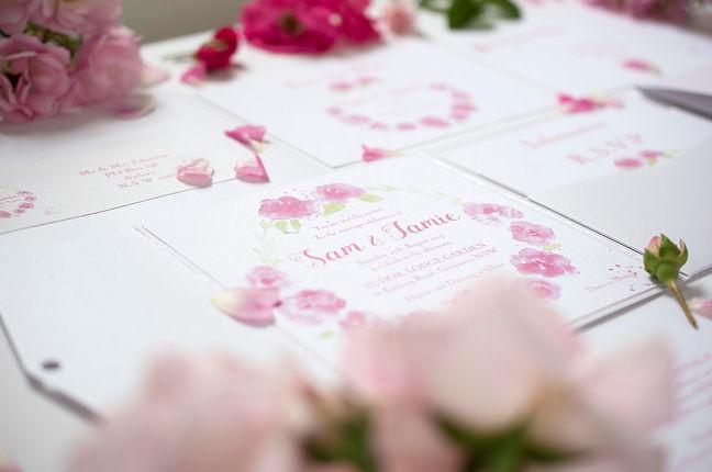 Mudgee Wedding Stationery Designer - Original  Watercolour design