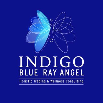 INDIGO BLUE RAY ANGEL LOGO DESIGN