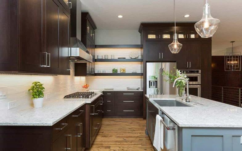 2016 Homeshow kitchen feature open shelv