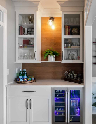 White butler's pantry with open shelving