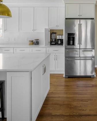 All-White Appliance Garage
