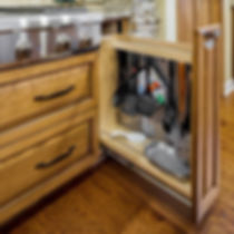 Pullout drawers that includes utensils for cooking