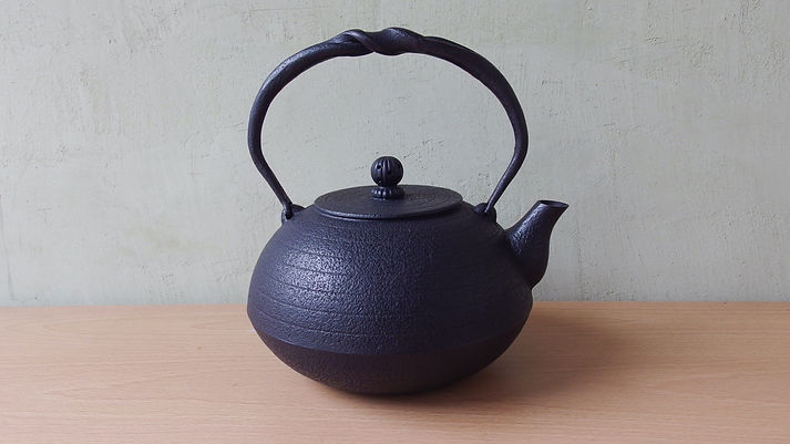 鉄瓶 布団形環文1.5ℓ黒