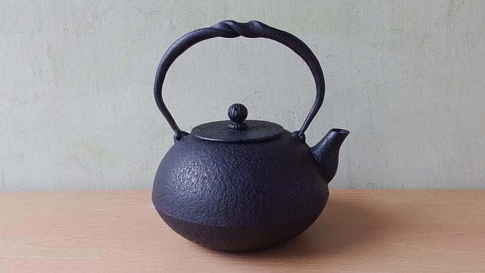 鉄瓶 布団形かすみ1.5ℓ黒