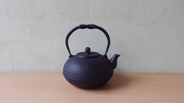 鉄瓶 布団形環文(黒)小