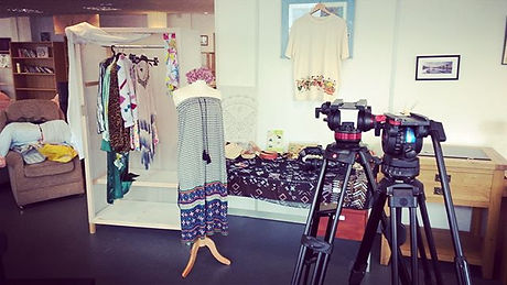 Filming done! And the #Emmaus #festivalfashion rail is emptying fast at the #StokesCroft store.jpg