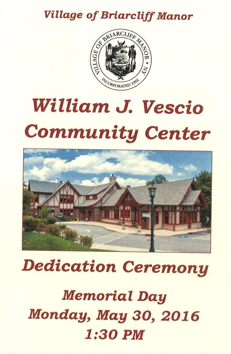 Community Center Dedication Ceremony