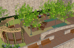 03_120822 Samaritan Village-courtyard view 1