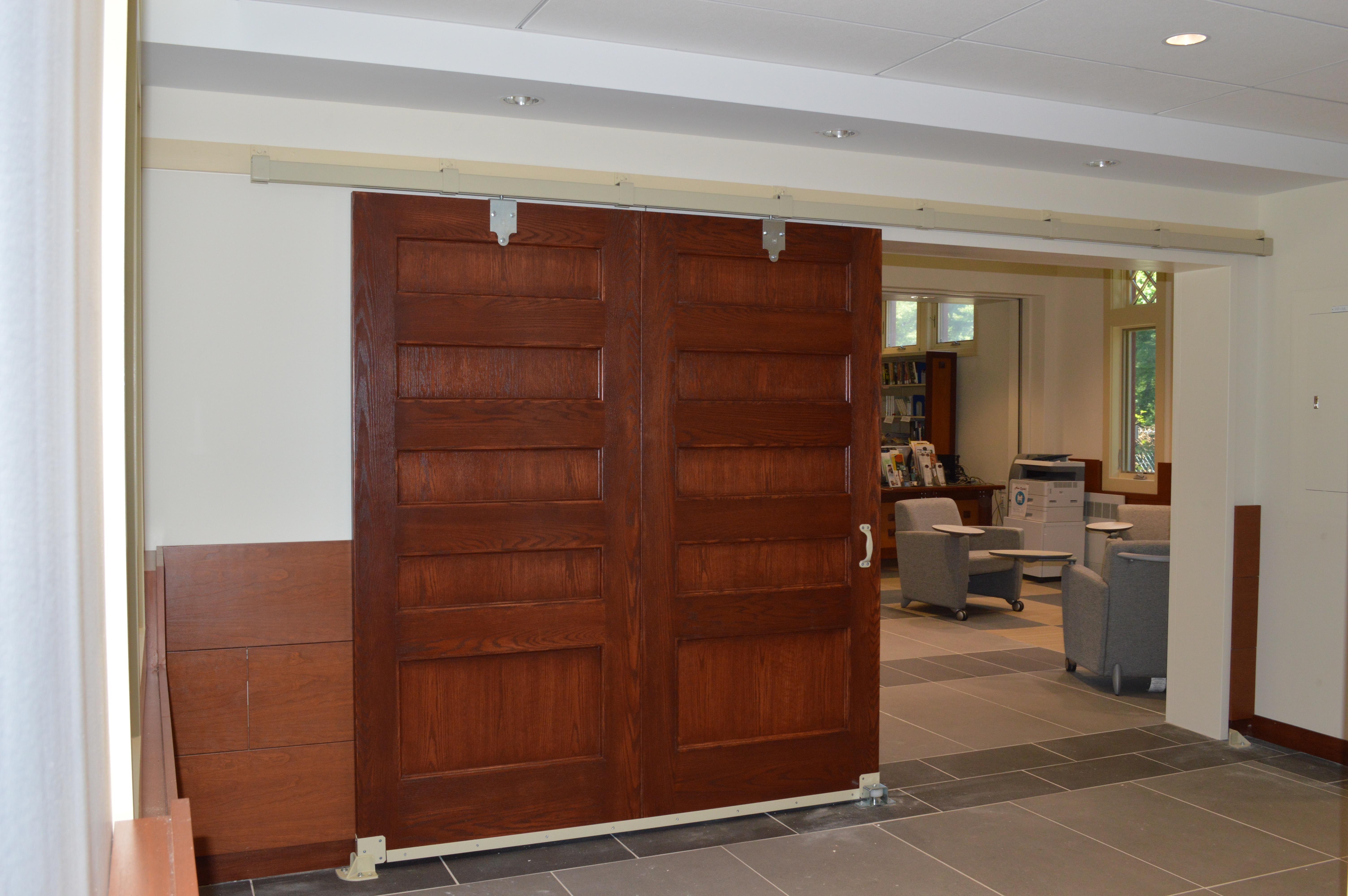 Barn Door to Library