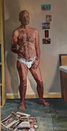 Self portrait- The bridegroom stripped bare by his bachelors: even