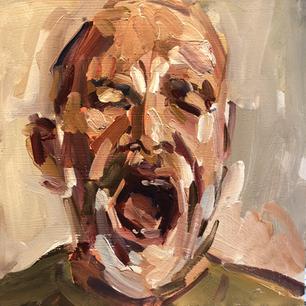 Self portrait - yawn