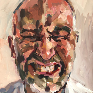 Self portrait - grimace