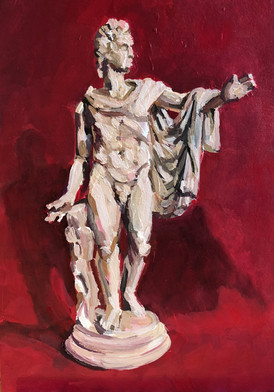 Figure of Hercules on on red ground