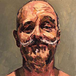 Self portrait with raised eyebrow