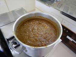大きなお鍋で作ったカレー