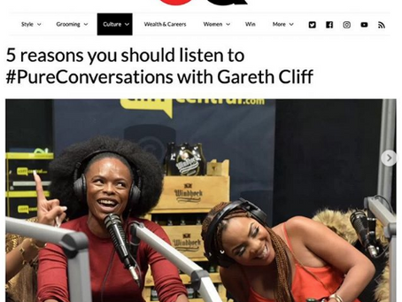 5 reasons you should listen to #PureConversations with Gareth Cliff and GQ Magazine.