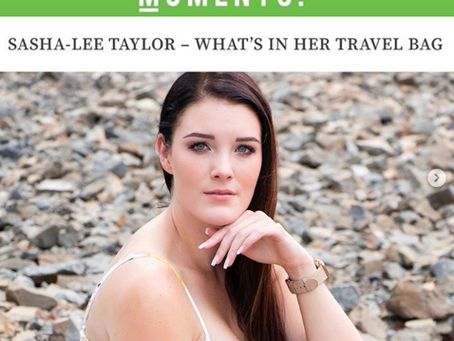 Sasha-Lee Taylor - What's in her bag with Aha Moments Magazine.