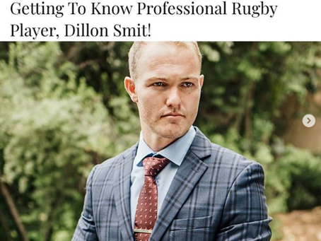 Getting To Know Professional Rugby Player, Dillon Smit with People Magazine!