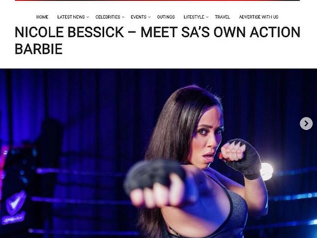 NICOLE BESSICK – MEET SA'S OWN ACTION BARBIE with GAUTENG LIFESTYLE MAG.